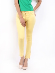 Lee Women Yellow Skinny Fit Jeggings