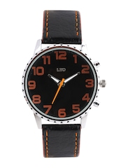 Leo Men Black Dial Watch PK08 RAL
