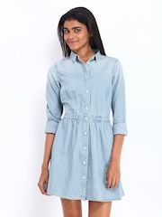 Levis Blue Denim Shirt Dress