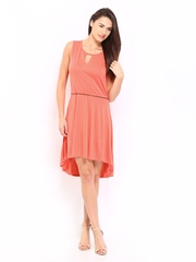 Levis Coral Orange High Low Dress