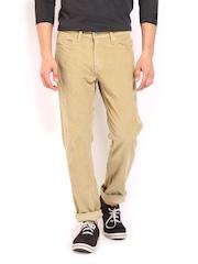 Levis Men Beige 511 Slim Fit Corduroy Trousers