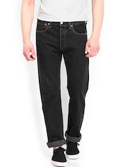 Levis Men Black 501 Straight Fit Jeans
