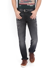 Levis Men Black 511 Red Loop Slim Fit Jeans