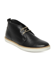 Levis Men Black Leather Casual Shoes