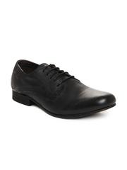 Levis Men Black Leather Semi-Formal Shoes