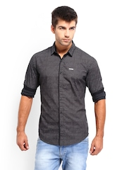 Levis Men Black Printed Casual Shirt