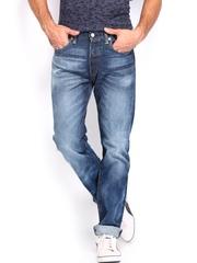 Levis Men Blue 501 Straight Fit Jeans