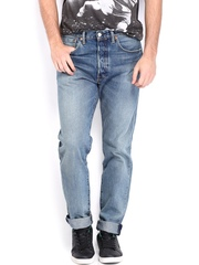 Levis Men Blue 501CT Tapered Fit Jeans