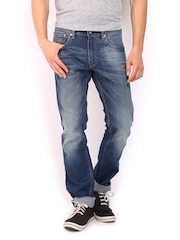 Levis Men Blue 65504 Skinny Straight Fit Jeans