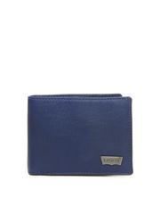 Levis Men Blue Leather Wallet