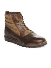 Levis Men Brown Leather Boots