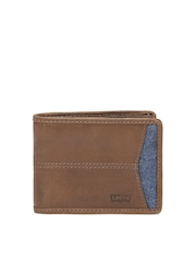 Levis Men Brown Leather Wallet