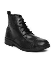 Levis Men Black Leather Boots