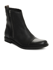 Levis Men Black Leather Boots