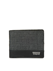 Levis Men Charcoal Grey Wallet
