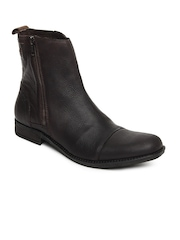 Levis Men Dark Brown Leather Boots