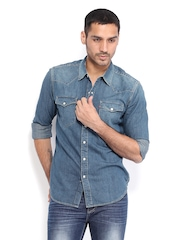 Levis Men Denim Blue Slim Fit Casual Shirt
