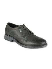 Levis Men Greenish Black Semi Formal Shoes