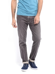 Levis Men Grey Tapered Fit Jeans