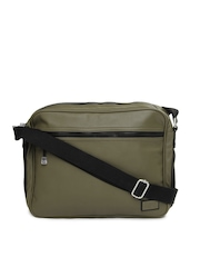Levis Men Olive Green Messenger Bag