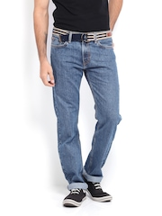 Levis Men Blue 504 Regular Straight Fit Jeans