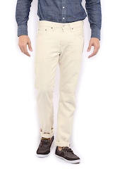 Levis Men Cream Coloured 511 Slim Fit Jeans