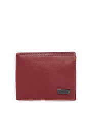 Levis Men Maroon Leather Wallet
