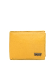 Levis Men Mustard Yellow Leather Wallet