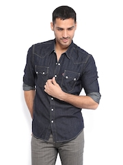 Levis Men Navy Slim Fit Casual Shirt
