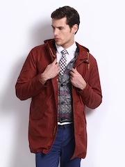 Levis Men Red Hooded Jacket