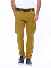 Levis Men Mustard Yellow Straight Fit Chino Trousers