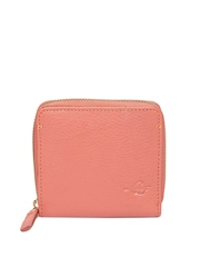 Levis Women Peach Toned Leather Wallet