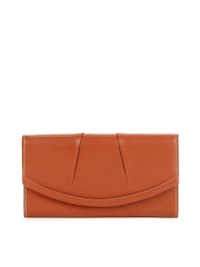 Levitate Women Orange Leather Wallet
