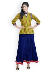 Libas Women Yellow & Blue Clothing Set