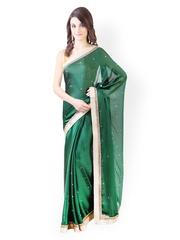 Libas Green Chiffon Partywear Saree