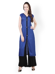 Liba Women Blue & Black Salwar Kurta