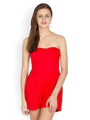 Liebemode Women Red Tube Playsuit
