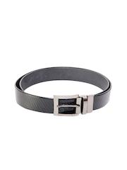 Ligans NY Men Black Leather Belt