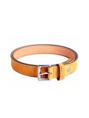 Ligans NY Men Mustard Yellow Leather Belt
