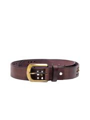 Ligans NY Men Brown Leather Belt