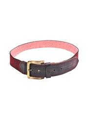 Ligans NY Unisex Red & Black Belt