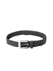 Ligans NY Unisex Black Leather Belt