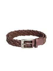 Ligans NY Unisex Brown Leather Belt