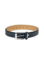 Lino Perros Men Navy Leather Belt