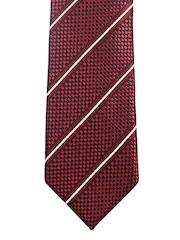 Lino Perros Maroon Striped Tie