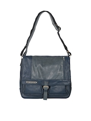 Lino Perros Men Navy Messenger Bag