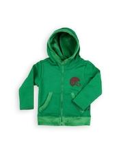 Play by Little Kangaroos Boys Green Hooded Sweatshirt
