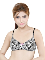 Black & White Printed Demicup Bra WILD-C Little Lacy