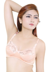 Peach-Coloured Demicup Bra SABINA Little Lacy