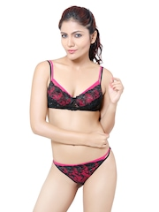 Pink & Black Lingerie Set DIYO Little Lacy